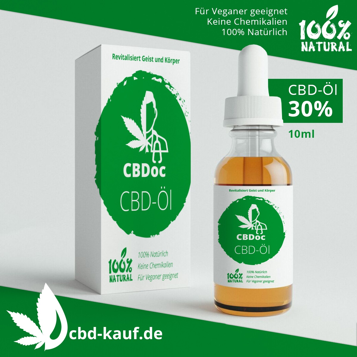 CBD Öl von cbd-kauf.de in der stärksten verfügbaren Potenz von 30%. Rein biologisch angebaut und verarbeitet.