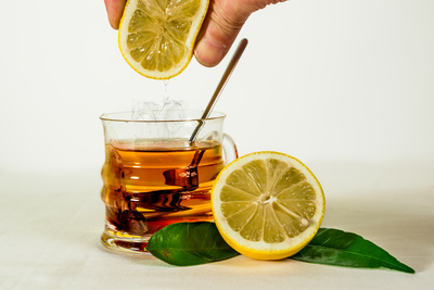 CBD Tee Hanfblütentee mit Zitrone